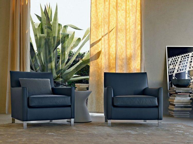 Designer Sessel als Blickfang im Wohnzimmer \u2013 25 Wohnideen 椅子 - wohnideen wohnzimmer mediterran