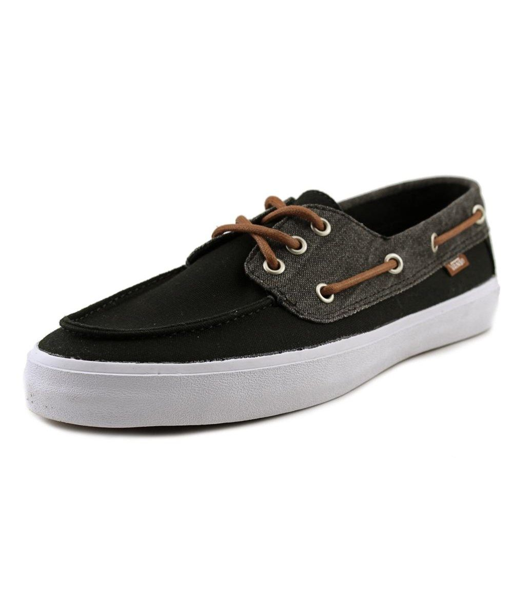 VANS Vans Chauffeur Sf Men Moc Toe Canvas Black Boat Shoe