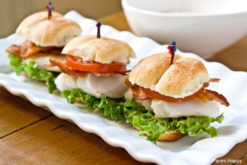 Grilled Cod Sliders on Parker House Rolls, from Panini Happy