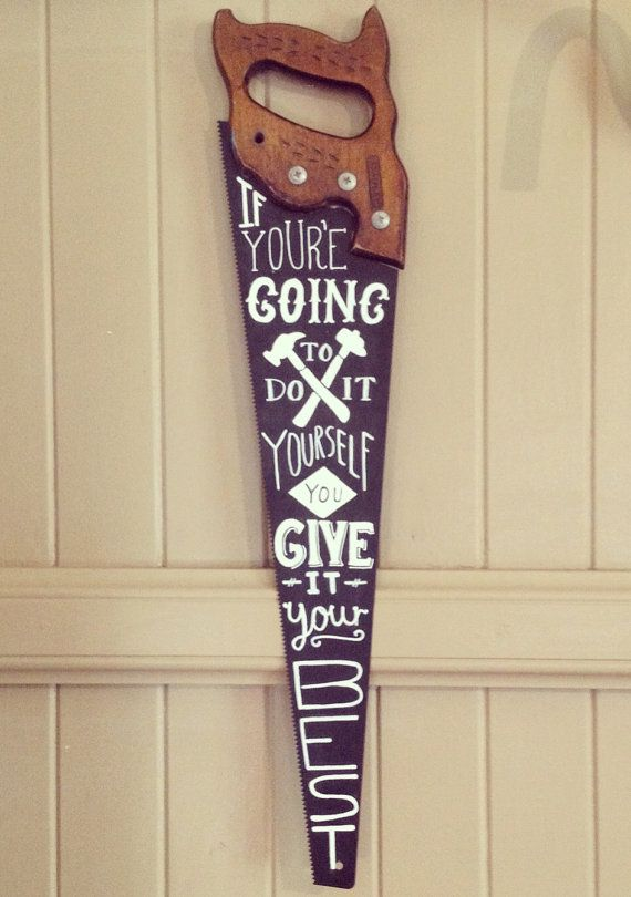 Hand Painted Typography On Vintage Saw On Etsy 115 04