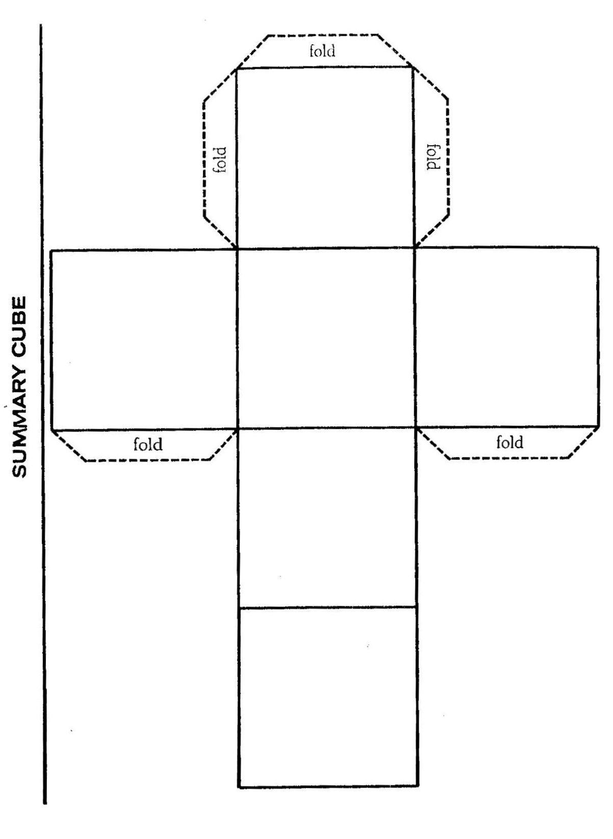 24 Summary Cube Template