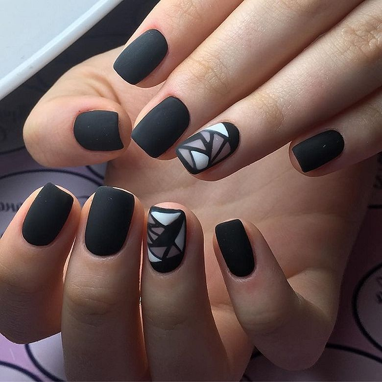 51 Geometric Nail Art Designs You Need To Try In 2019: Beautiful. Geometric Nail Art Designs You Need To Try In