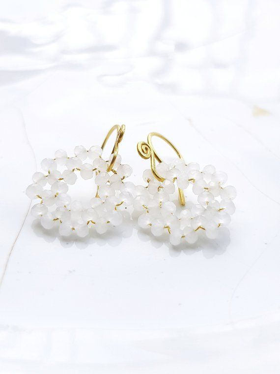 Bridal Earrings,Wedding Jewelry,Hoop Earrings,Statement ...