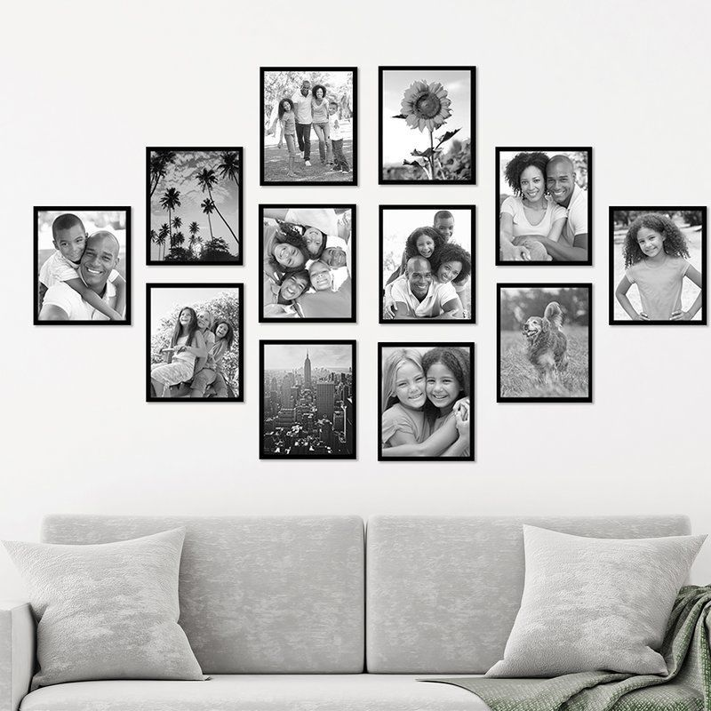 12 Piece Black Picture Frame Set In 2020 Photo Wall Decor Family Wall Decor Family Pictures On Wall