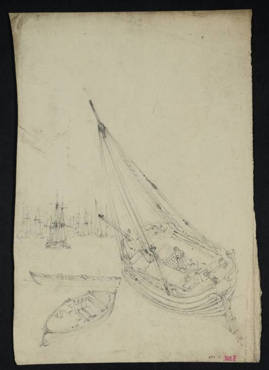Studies Of Boats And Of Distant Shipping Joseph Mallord William