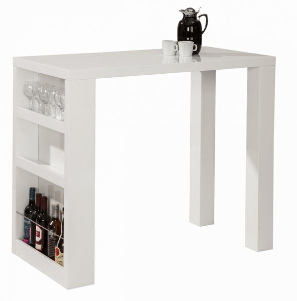 Coffee Table Layers White High Gloss Amazon Co Uk Kitchen: Barbord Med Magasinholder