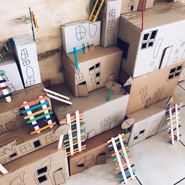 CARDBOARD BOX TOWN - Mini Mad Things in 2020   Cardboard