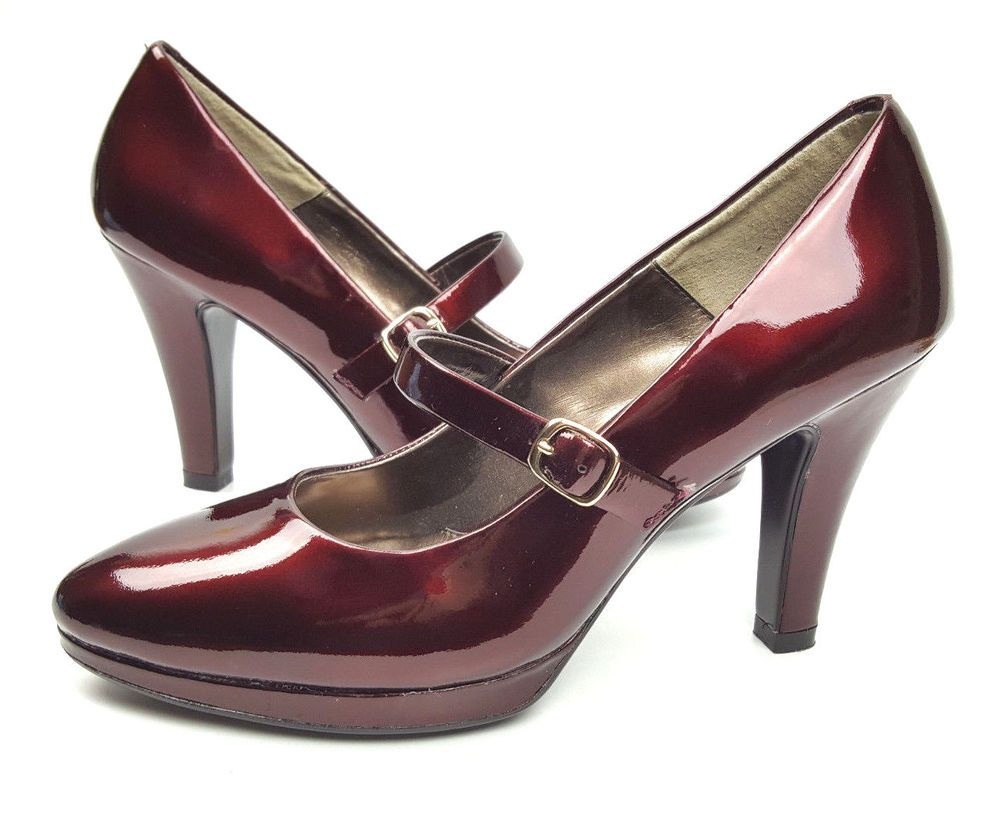 79710cb3594c Sofft shoes 7.5 M black cherry red patent leather Mary Jane pumps comfort  heels  Sofft  MaryJanes  WeartoWork