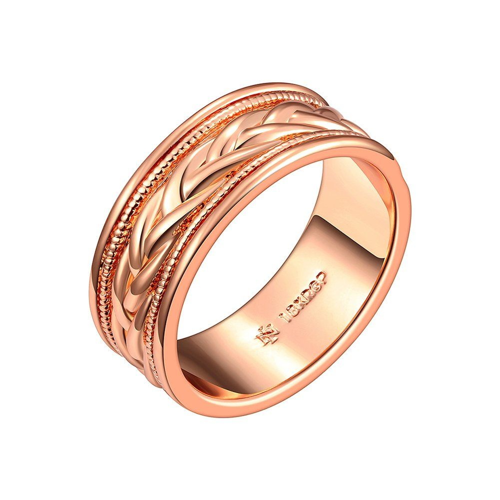 Dangdang-Bling Women's Rose Gold Plated Puzzle Band Ring US Size 8. 100% brand new. It is a must-buy accessory and appropriate for nearly any occasion. Puzzle Band Ring. Suitable for party, wedding, engagement, love gift. Imported.
