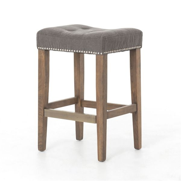 Amazing Ashford Sean Counterstool With Kickplate In Dark Moon Canvas Caraccident5 Cool Chair Designs And Ideas Caraccident5Info