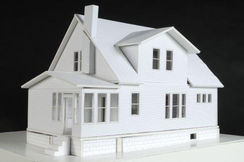 Foam Board Models Dolan Astwood Foam Core House Model Model Homes Foam Board Crafts Miniature Houses