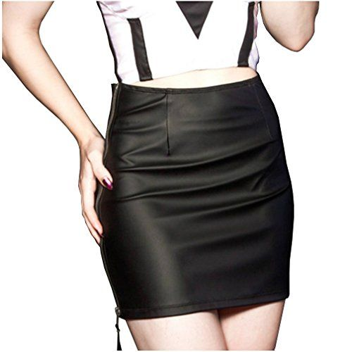 Lip Service Gothic Rocker PVC Vinyl Classic High Waisted Faux Leather Mini Skirt XS *** To view further for this item, visit the image link.