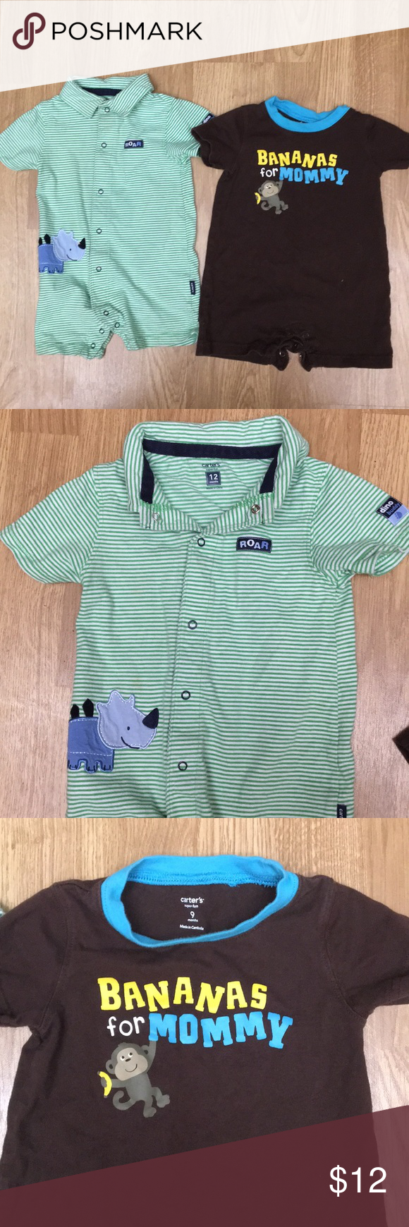 be356bb4f97f Carters baby boy short romper set in 2018