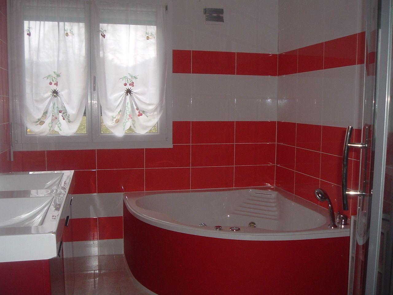 100 Fantastique Conseils Salle De Bain Rouge Et Blanc