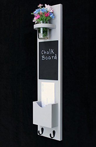Legacy Studio Décor Tall Mail Organizer with Chalkboard Key Hooks & Mason Jar, Smooth Gray, http://www.amazon.com/dp/B00OQKSE26/ref=cm_sw_r_pi_awdm_yhTMvb0T8B6K8