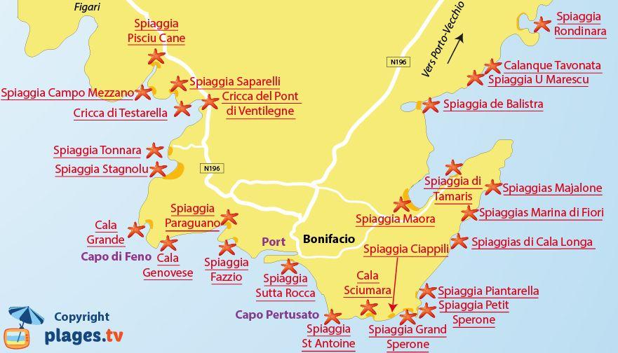 Spiagge Sardegna Sud Cartina.Spiagge Bonifacio Francia Foto Pareri Mappa Spiagge Mappa Corsica