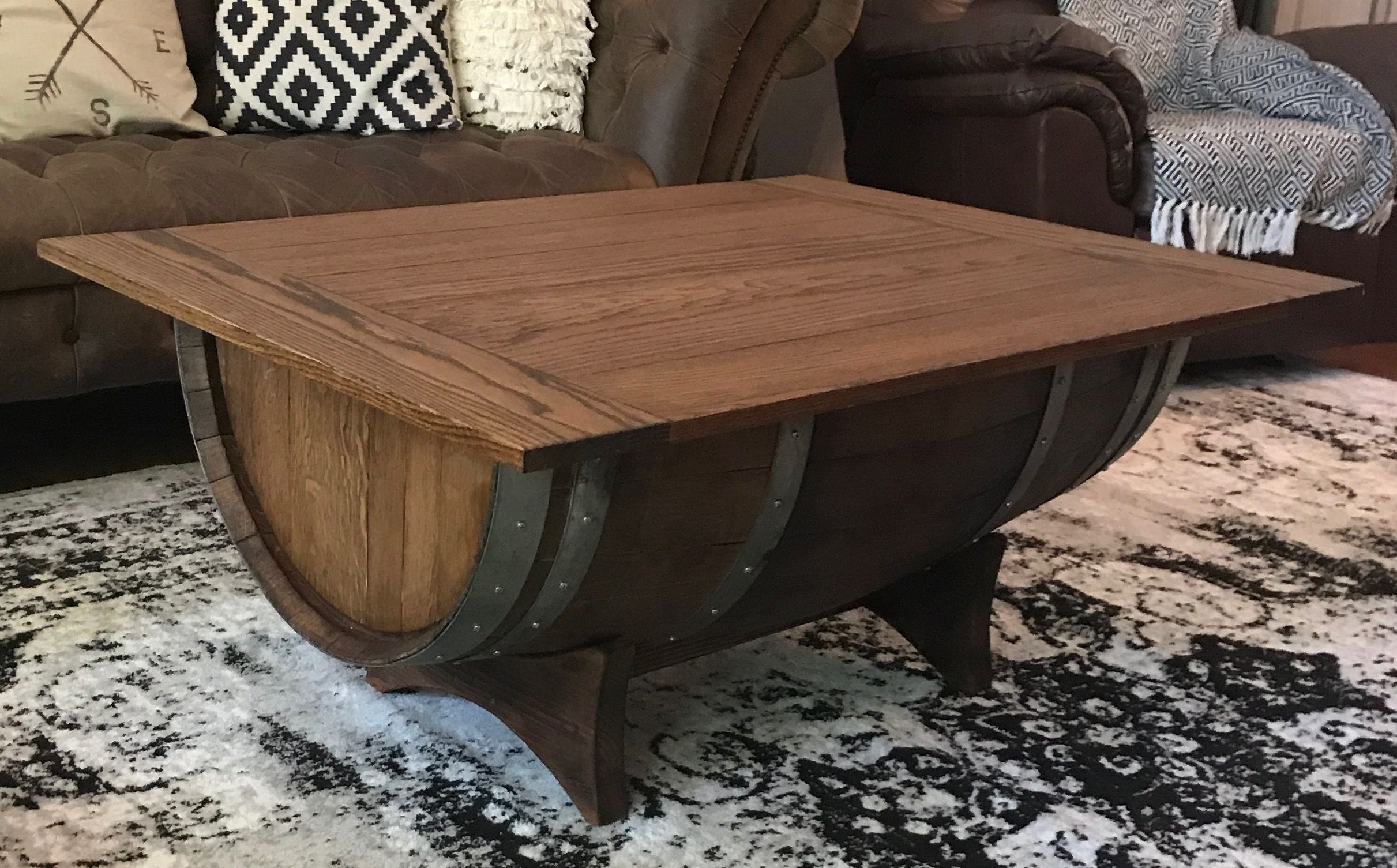 Wine Barrel Coffee Table Sierra Reclaimed Pinterest
