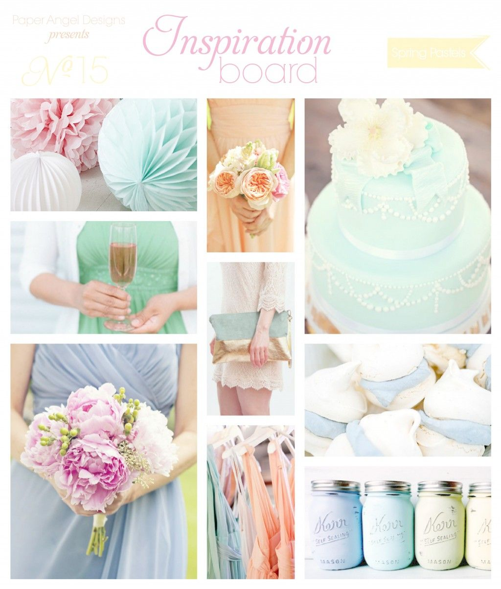 Spring Pastels Lilac Peach Baby Blue Mint Green Wedding