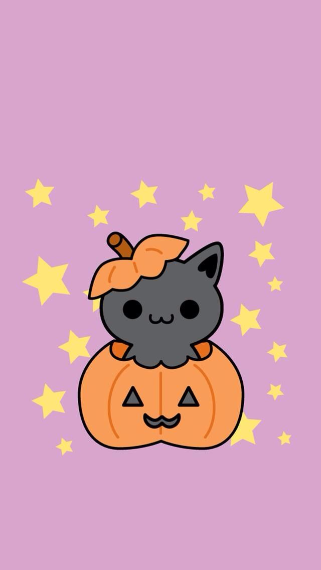 Pin By Bethany Stewart On Iphone Wallpapers Halloween Wallpaper Pusheen Fall Wallpaper