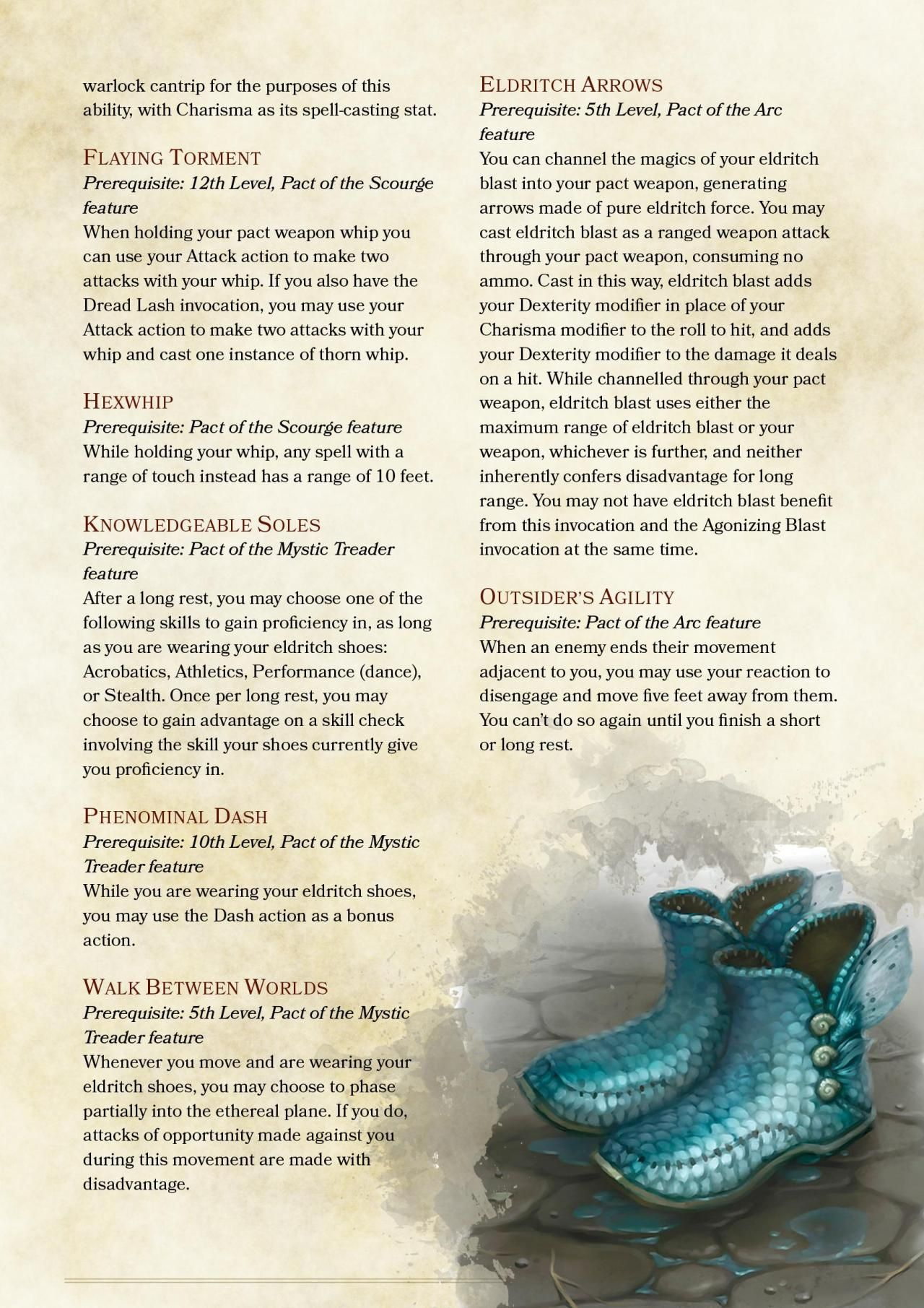 DnD 5e Homebrew — Warlock Pact Boons And Invocations By...