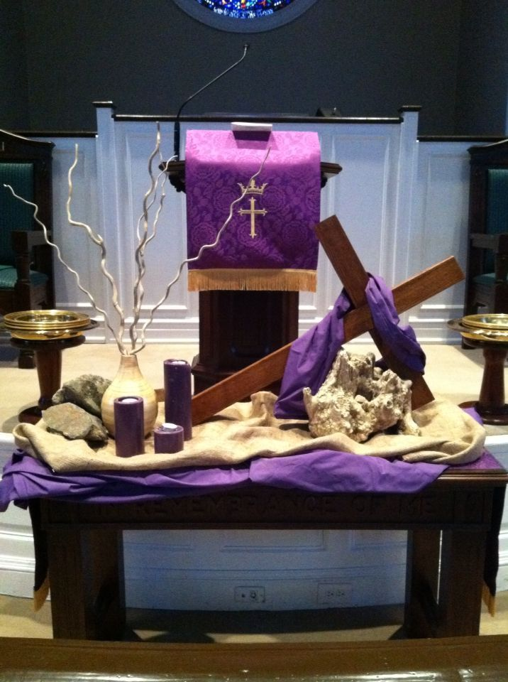 Image Result For Altar Decoration For Lent Lent Decorations For