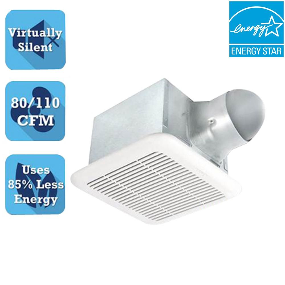 Signature Series 110 Cfm Ceiling Bathroom Exhaust Fan With Dual Sd Adjule