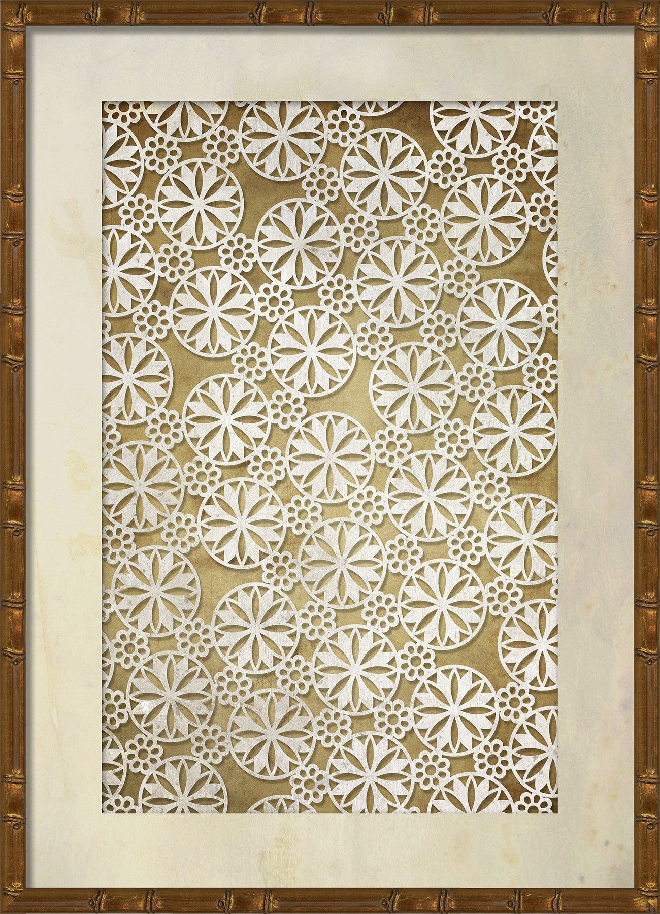 Lace Pattern 4 Framed Graphic Art   Lace patterns, Graphic art and ...