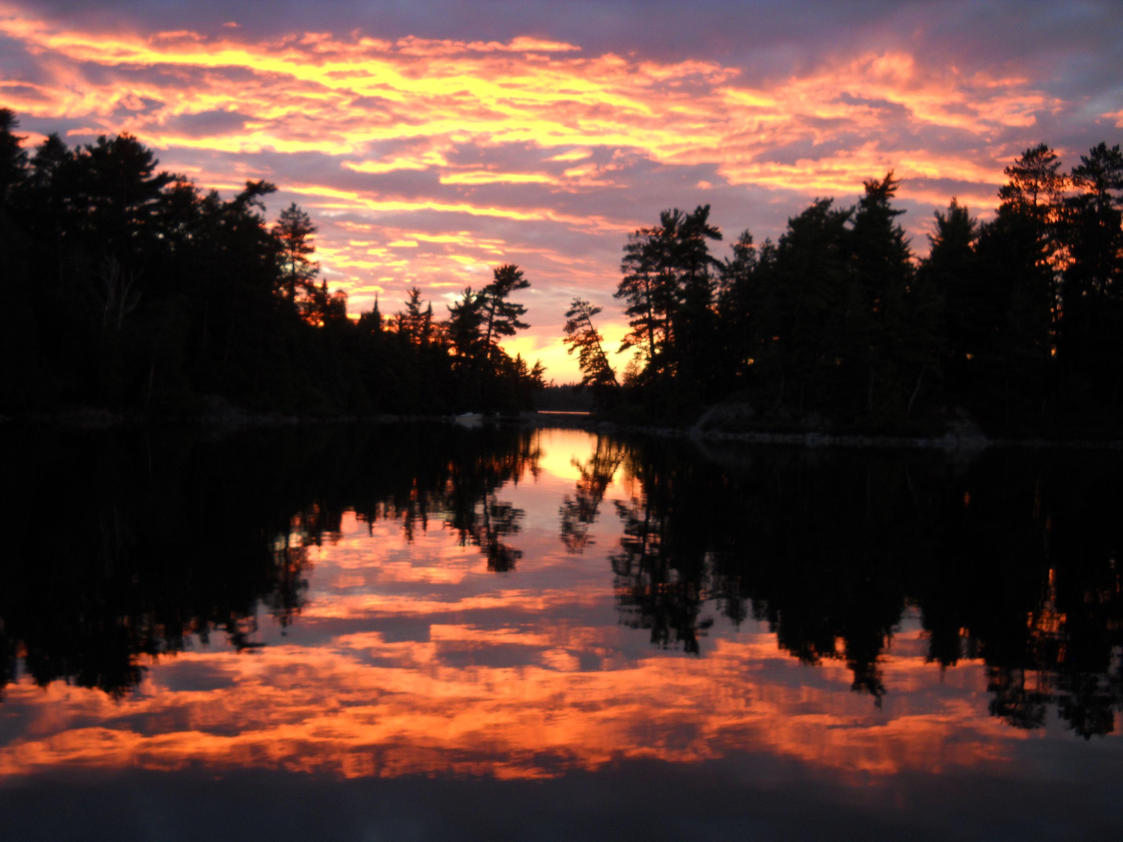 Sunset On: Temagami Lake, Ontario STUNNINGLY BEAUTIFUL