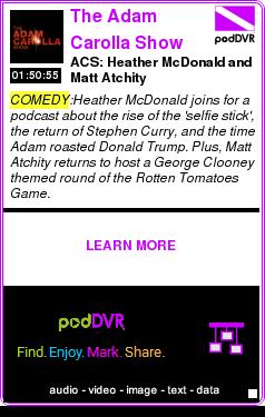 #COMEDY #PODCAST  The Adam Carolla Show    ACS: Heather McDonald and Matt Atchity    LISTEN...  http://podDVR.COM/?c=d18b0e7d-9fc6-2ca4-38f4-d441b79600ac