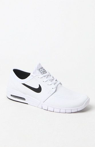 cheap for discount 0feb8 3b09f PacSun presents the Nike SB Stefan Janoski Max Leather Shoes. Crafted with  insight from a skateboarding legend, these shoes provide excellent impact  ...