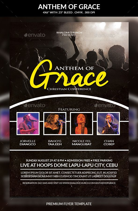 Anthem Of Grace Church Flyer Flyer Template Churches And Template