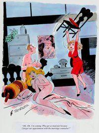 Frank Thorne Playboy Single Panel Gag Comic Illustration Original Art (Playboy Enterprises, undated)