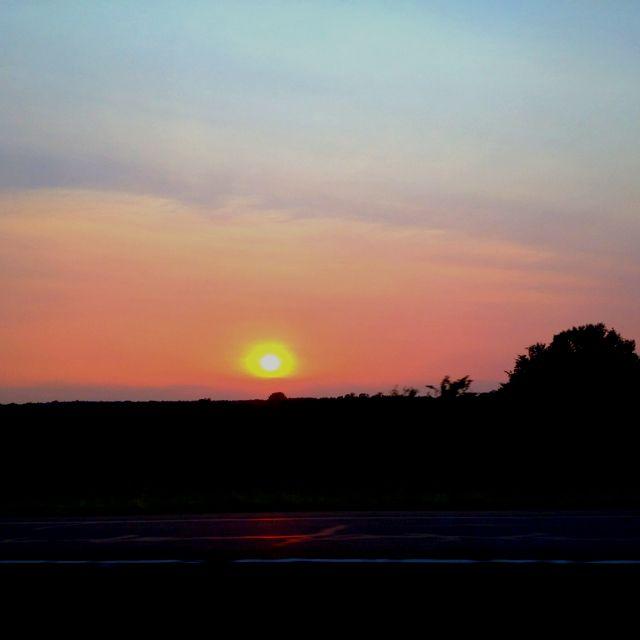 Sunset on sunday afternoon
