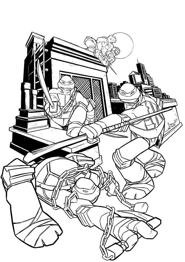 coloring pages turtles ninja songs-#16