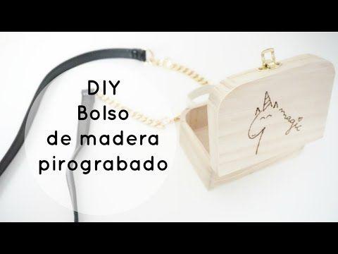 DIY bolso de madera pirograbado - YouTube