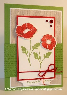 easily amused mftwsc128 my favorite things ljd pretty poppies