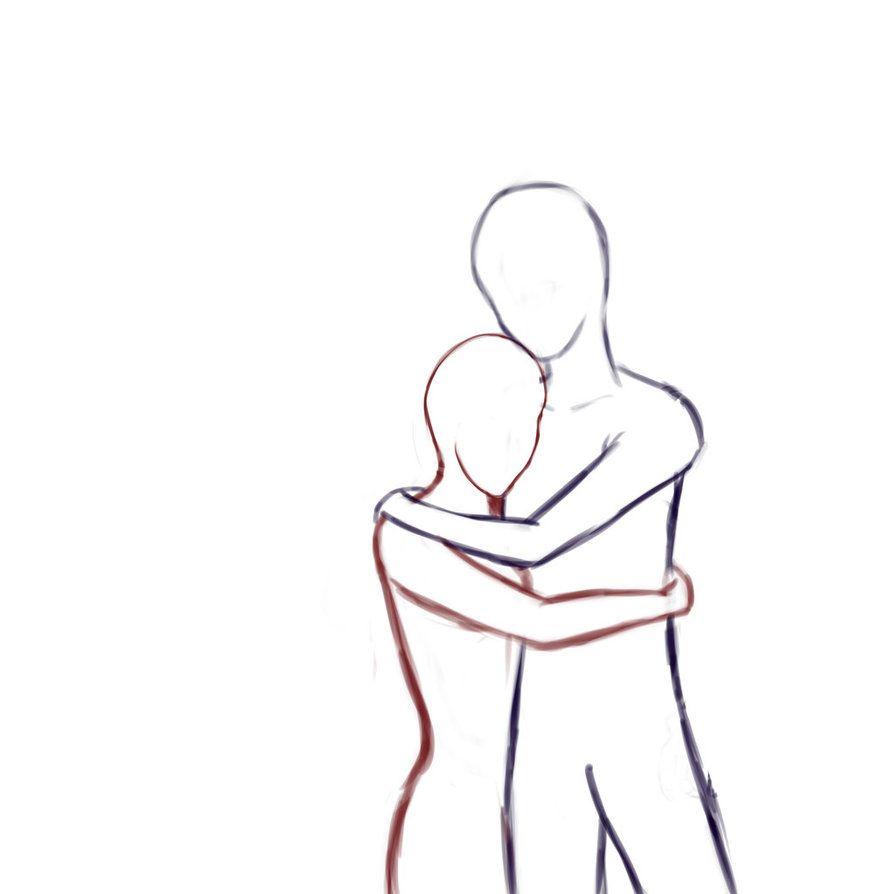 Drawing People Hugging Drawings Of People Hugging Drawing Hido