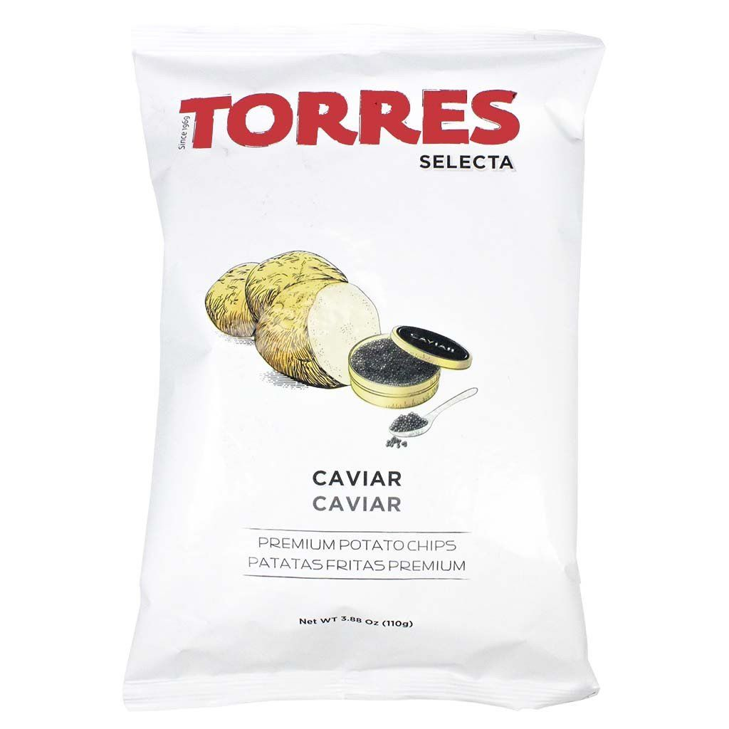 Large Pack Caviar Potato Chips by Torres 3.8 oz Potato
