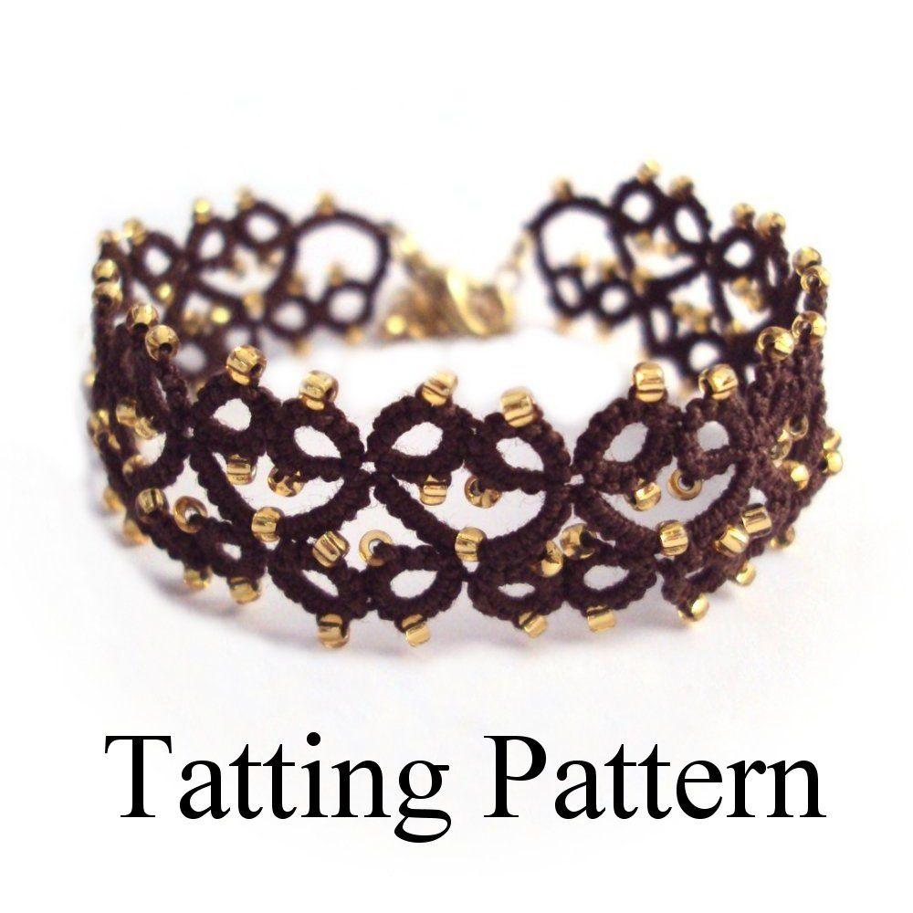 PDF Tatting Pattern 'Lillian' Bracelet by Tatania Rosa https://www.etsy.com/listing/125032325/pdf-tatting-pattern-lillian-bracelet