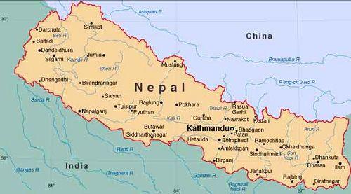 Nepal Map Met Afbeeldingen Reizen Hoeden