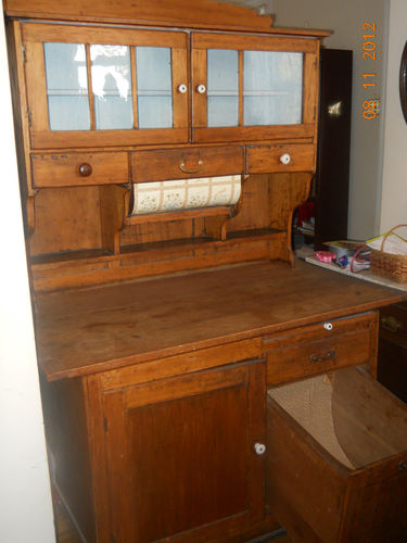 Antique Hoosier Cabinet Late 1800s Early 1900s Authentic Ebay