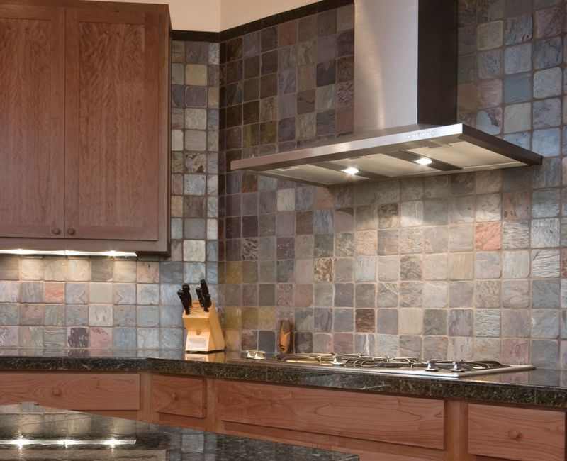 Anatolia Multi Color Slate 4x4 For The Backsplash Coordinate With Matching 2x4