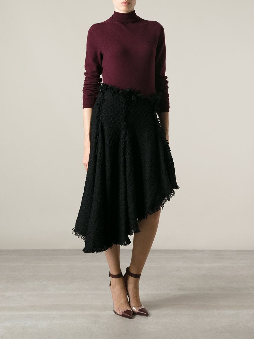 Lanvin Asymmetric Fringed Skirt - Degli Effetti Women - Farfetch.com