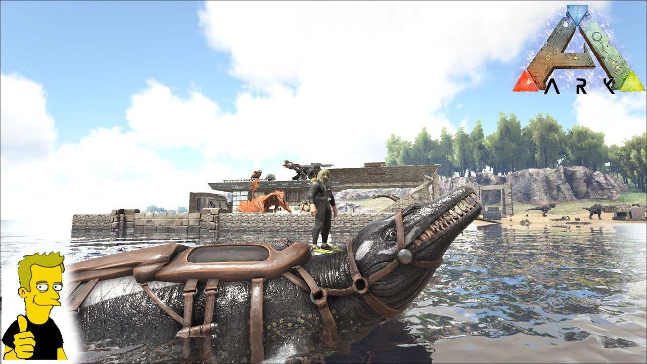 ARK: Survival Evolved BASILOSAURUS TAME!! | Gamers Rule