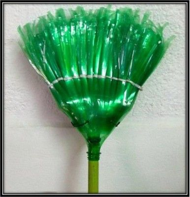 Plastic bottle broom and many more useful things you can for Waste things uses