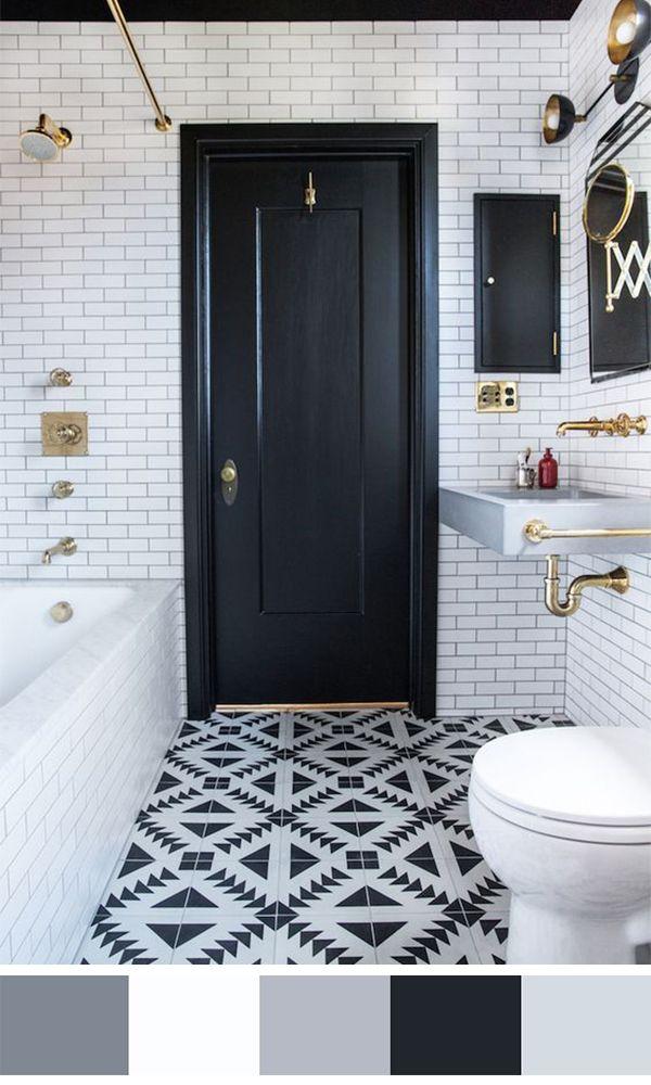 Great 5   Homesthetics   Inspiring Ideas For Your Home. Black White BathroomsTile  ...