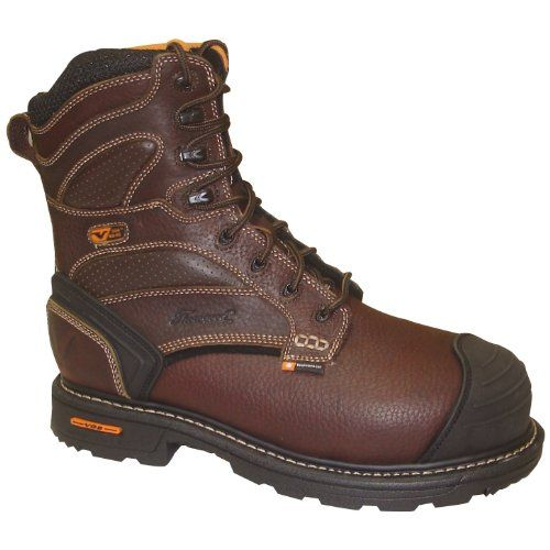 8c42ada8c63c0 Thorogood Mens Genflex Brown Leather Safety Toe Boots 8in WP ...