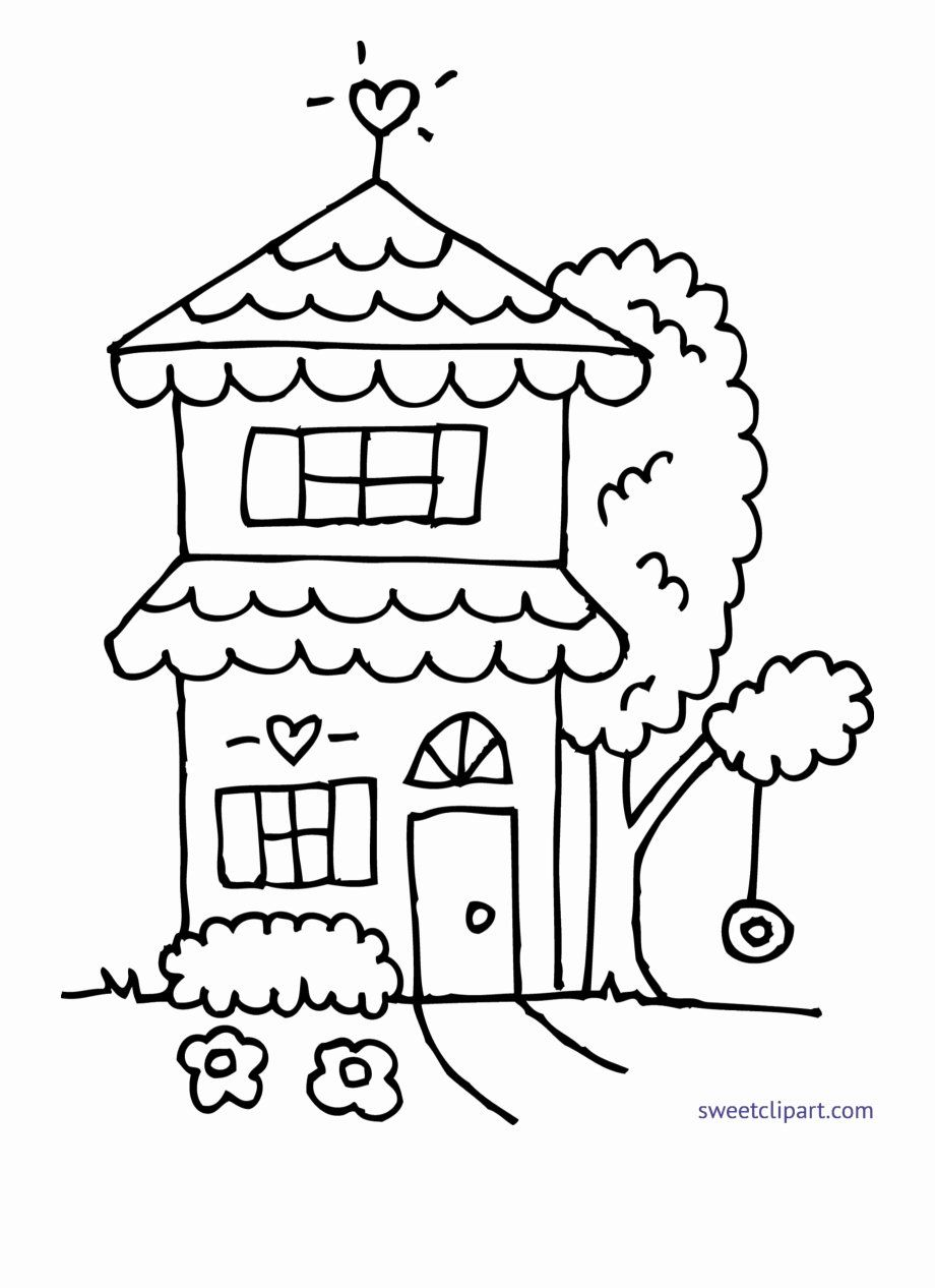 School House Coloring Sheets Elegant Collection Cottage And Tree Coloring Pages Pattern Coloring Pages Tree Coloring Page Coloring Sheets