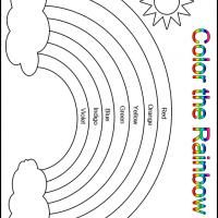 Printable Color The Rainbow Kindergarten Worksheet Printable