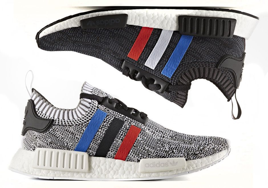 The adidas NMD R1 Primeknit is back in a new Tri-Color Pack featuring red 6efc1d682